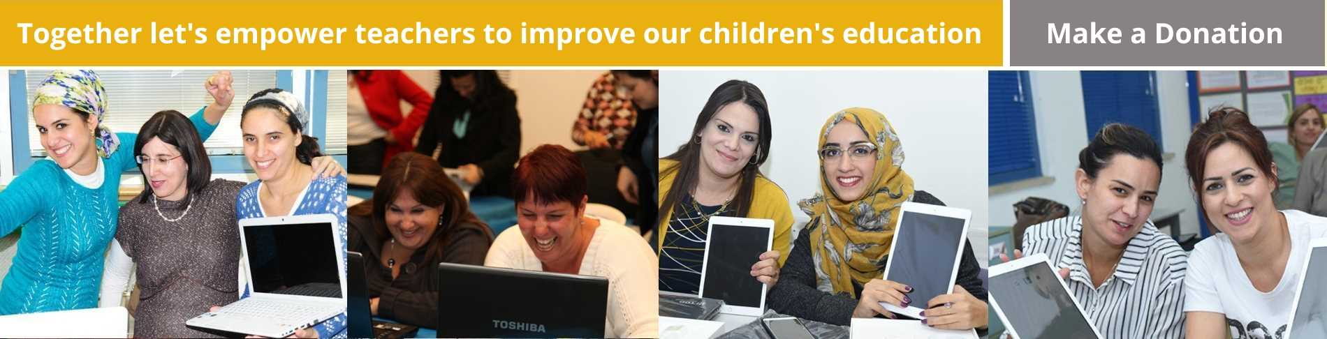 Together lets empower teachers to improve our childrens education,  Make a Donation!